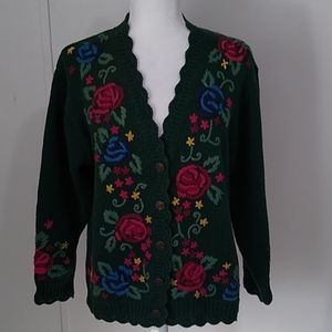 Vintage Pendleton Embroidered Cardigan Sweater L